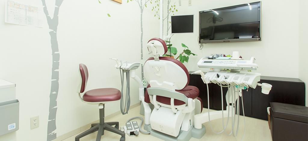 茅ヶ崎の歯医者、湘南まつだ歯科医院の個別診療室